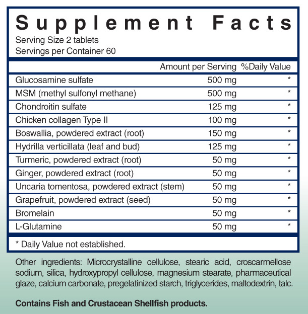 Supplemental Facts Label